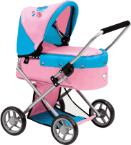 BINO Mały wózek dla lalek z motylkami