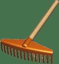 LENA Hrable s drevenou rukoväťou, 30 cm - záhradné náradie