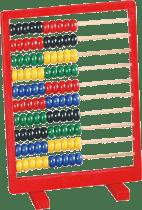BINO Dřevěné počítadlo, červené