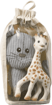 VULLI Set plyšová hračka kocúr Lazare + žirafa Sophie