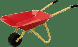WOODY Kolečko červené, kov - zahradní nářadí