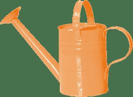 WOODY Konev - oranžová / ružová, kov - záhradné náradie