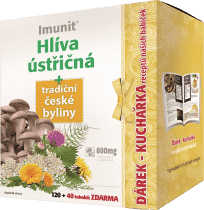 IMUNIT Hlíva ústřičná + tradiční české byliny (120+40 tobolek + kuchařka)
