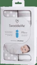 SUMMER INFANT Zavinovačka SwaddleMe sivé bodky / sivé prúžky 2ks