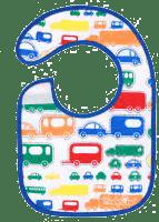 BABY ONO Podbradník froté / PVC malý, vodeodolný, 3m + Autá