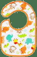 BABY ONO Śliniaczek frote/PVC mały, wodoodporny, 3m+ - Safari