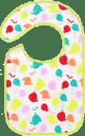 BABY ONO Podbradník froté / PVC stčervenáná, vodeodolný, 6m + Vtáčiky