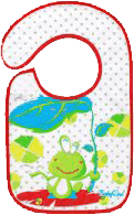 BABY ONO Śliniaczek frote/PVC średni, wodoodporny, 6m+ - Żaba