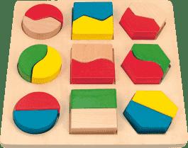 WOODY Tabliczka w geometryczne kształty