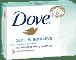 DOVE krémová tableta Pure and Sensitive pre citlivú pokožku 100g