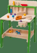 WOODY Dřevěný pracovní ponk - velký pracovní stůl