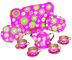 WOODY Čajová súprava v kufríku - Trendy