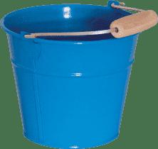 WOODY Vedro kovový - modrý - záhradné náradie
