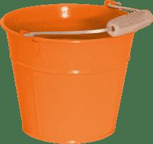 WOODY Vedro kovový - oranžový / ružový - záhradné náradie