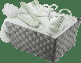 BEABA Zestaw toaletowy dla niemowlaka w koszyczku - zielony