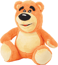 MIKRO TRADING Medvěd plyšový 30cm - oranžová