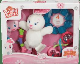 BRIGHT STARTS Darčeková sada hračiek králiček (0m +)