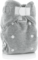 BAMBOOLIK Nočná nohavičková látková plienka, šedá