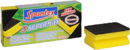 SPONTEX Super Max profilowana gąbka duża, 3 szt.