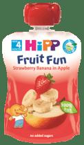 HIPP BIO ovocné pyré Jablko-Banán-Jahoda 90g