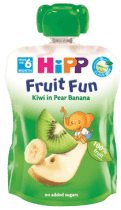 HIPP BIO ovocné pyré Hrušky-Banán-Kiwi 90g