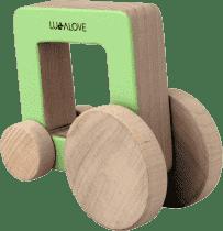 LULLALOVE Dřevěné auto ODA CAR čtverec
