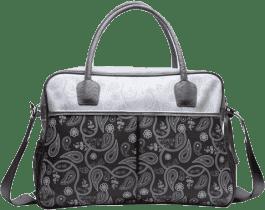 BEBE-JOU Luxusná prebaľovacia taška strieborná Paisley print