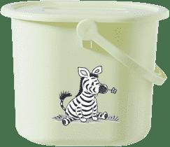 BEBE-JOU Kýblik na plienky Dinky Zebra sv. zelená