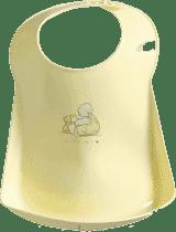 BEBE-JOU Plastový podbradník Humphrey žltý