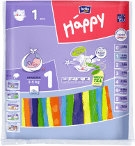 BELLA HAPPY Newborn 2-5 kg (1 szt.) – pieluszki jednorazowe