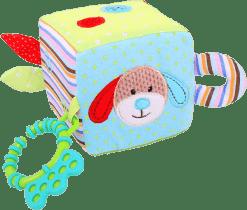 BIGJIGS Textilné motorická kocka - Psík Bruno