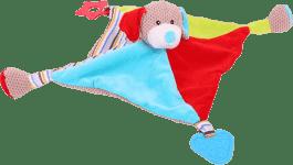 BIGJIGS Tekstylna zabawka – Piesek Bruno z gryzakami