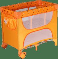 PATRON Skladacia postieľka pre novorodenca Maia - oranžová / motýľ