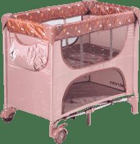PATRON Skladacia postieľka pre novorodenca Maia - hnedá / motýľ