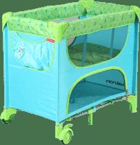 PATRON Składane łóżeczko dla noworodków Maia – turkusowe/motyl