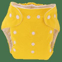 BOBOLIDER Plienkové nohavičky ECO Bobolider B1 - žlté, vložka z mikrovlákna