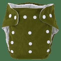 BOBOLIDER Plenkové kalhotky ECO Bobolider B20 – tmavozelené, vložka z mikrovlákna