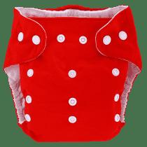 BOBOLIDER Pieluszka wielorazowa ECO Bobolider B7 czerwona z wkładem z mikrofibry