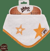 KIKKO Bambusowy śliniaczek/ściereczka Stars (1 szt.) – orange