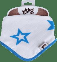 KIKKO Bambusowy śliniaczek/ściereczka Stars (1 szt.) – cyan