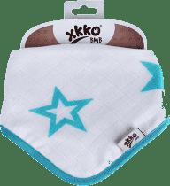 KIKKO Bambusowy śliniaczek/ściereczka Stars (1 szt.) – turquoise