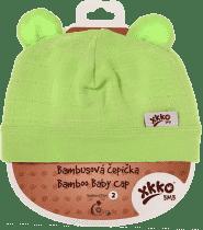 KIKKO Bambusová dětská čepička Colours, vel. 3 - lime