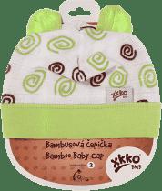 KIKKO Bambusová detská čiapočka Spirals vel. 3 - lime