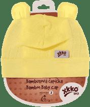 KIKKO Bambusová dětská čepička Colours, vel. 4 - lemon