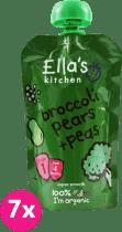 7x ELLA'S Kitchen Brokolica, hruška a hrášok 120g