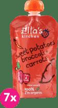 7x ELLA'S Kitchen Sladké zemiaky, brokolica a mrkva 120g