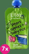 ELLA'S Kitchen Deser ryżowy BIO jabłko gruszka 7 x 120 g