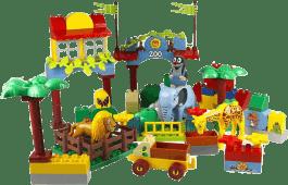EPLINE Krecik zestaw maxi (96 klocków + 1 figurka Krecik + 3 figurki zoo)