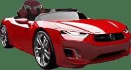 EPLINE Elektrické Auto Henesy Broon F830, červené