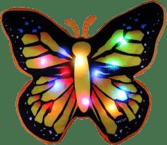 EPLINE Świecąca poduszka motyl, czarno-żółta